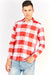 Red Checkered Long Sleeve Shirt