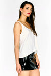 White Sleeveless Vest Top