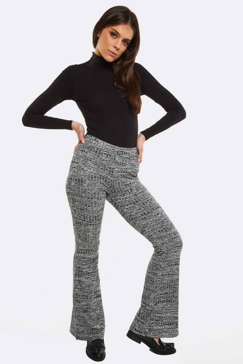 Grey Patterned Trousers