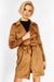 Brown Faux Leather Coat