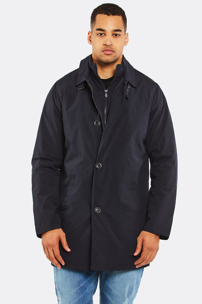 Navy Jacket With Zipper
