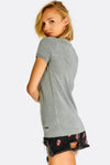 Light Grey Fine Knit T-Shirt