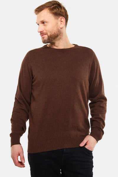 Brown Cotton Jumper