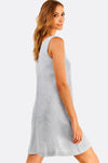 light grey textured dress