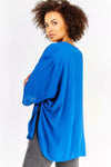Deep Blue 3/4 Sleeve Cardigan