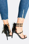 Black High Heel Shoes With Buckles