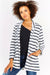 White Striped Long Sleeved Cardigan