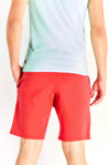 Red Shorts With Text Print