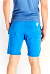 Blue Shorts With Text Print
