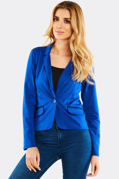 Blue One Button Blazer