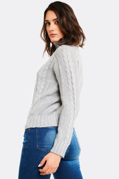 Light Grey Turtleneck Jumper