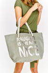 Oversized Printed Beach Bag