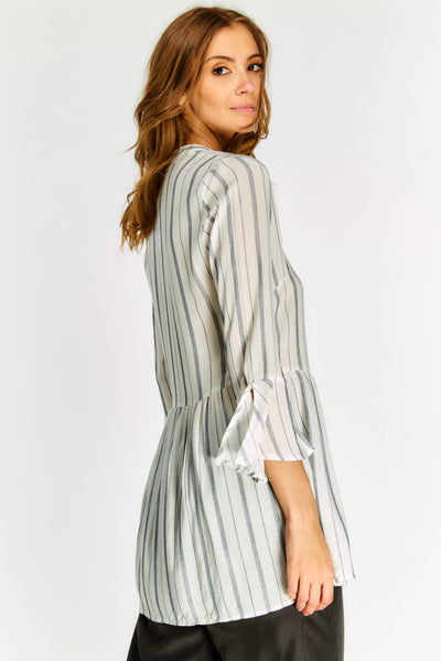White Striped Long Sleeved Shirt