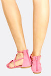 Pink Short Gladiators Sandals