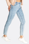 Light Blue Denim Leggings