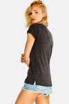Dark Grey T-Shirt With Chest Pocket