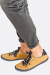Dark Yellow Faux Leather Shoes