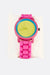 Pink Watch Without Numbers