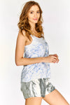 White Printed Sleeveless Top