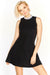 Black Diamante Neck Dress