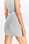 Light Grey Mini Skirt