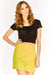 Yellow Zip Front Skirt