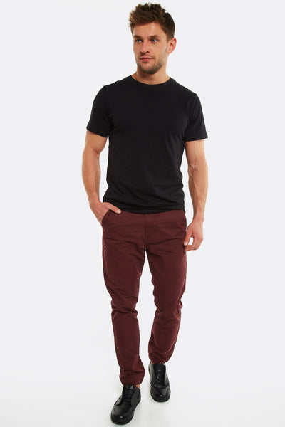 Maroon Cotton Trousers