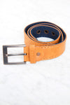 Golden Brown Faux Leather Belt