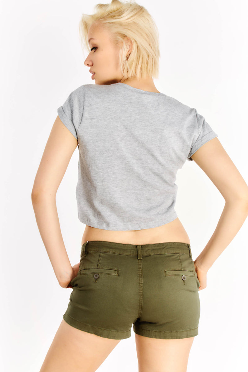 Grey Crop T-Shirt