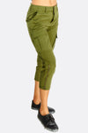 Green Capri Pants With Pockets