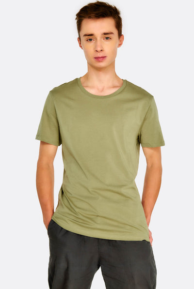 Khaki Cotton T-Shirt