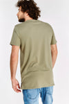 Khaki Round Neck T-Shirt