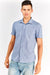 Blue Cotton Short Sleeve Shirt