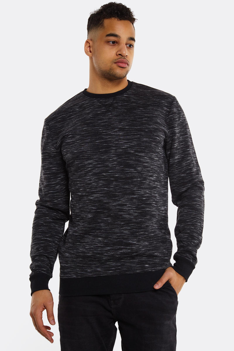 Black Sweatshirt With Elastic Hems
