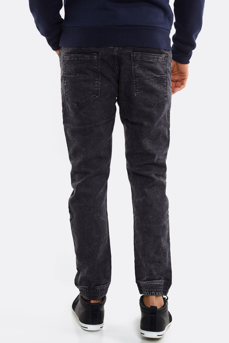 Black Jeans With Faded Aspect