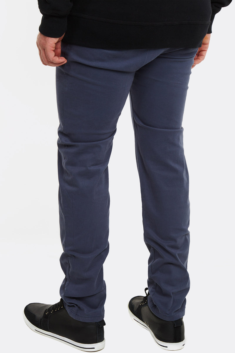 Blue Trousers With Side Pockets