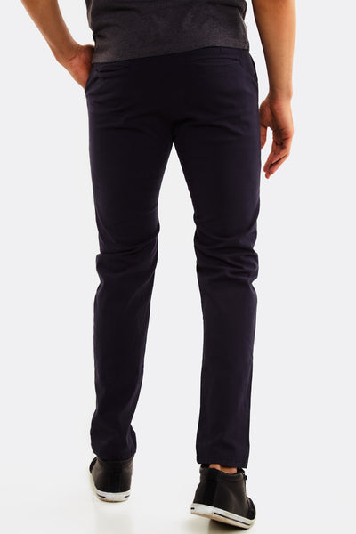 Navy Trousers With Side Pockets