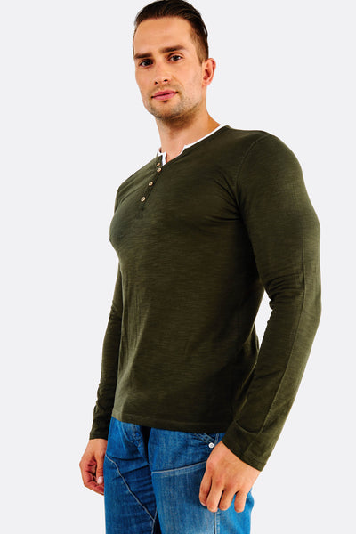 dark green cotton blouse