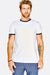 White Cotton T-Shirt With Black Edges