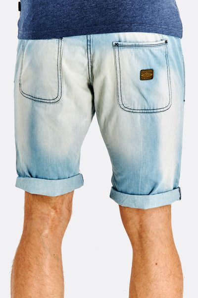 Pale Blue Denim Bermudas
