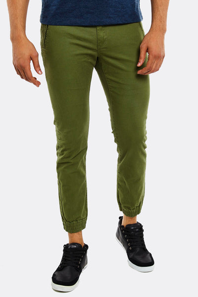 Olive Green Trousers With Side Pockets