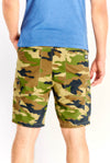 Multicoloured Cotton Camo Printed Bermudas