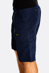 Navy Cotton Cargo Bermudas