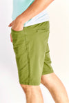 Dark Olive Green Bermudas With Pockets