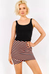 Striped Pencil Mini Skirt