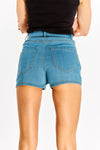 Pale Blue High Waisted Denim Shorts