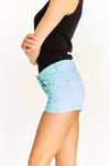 Pastel Blue Denim Shorts