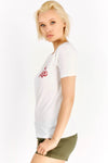 Cream T-Shirt With Chest Print