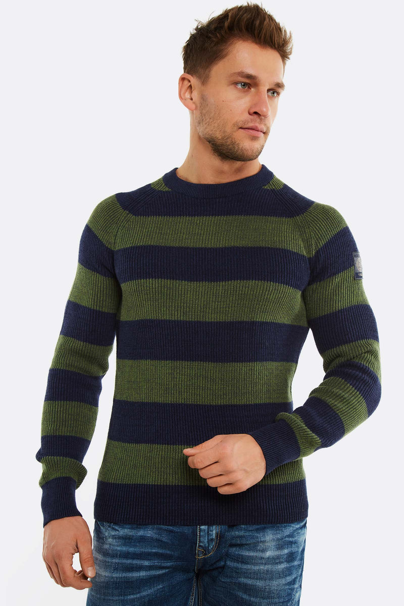 Green Striped Jumper