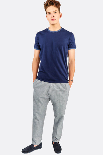 Light Grey Trousers With Cotton